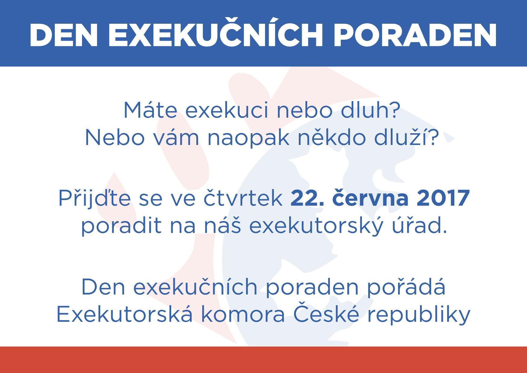 Den exekučních poraden - čtvrtek 22. června